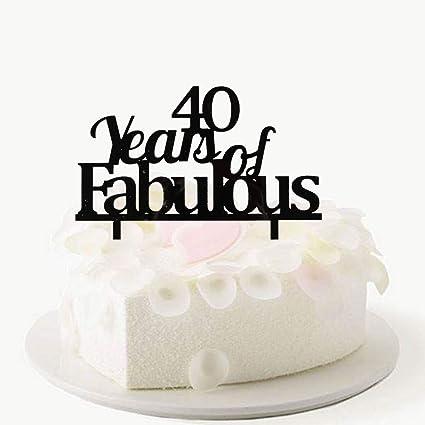 40 años de fabulosa decoración para tartas, feliz 40 ...