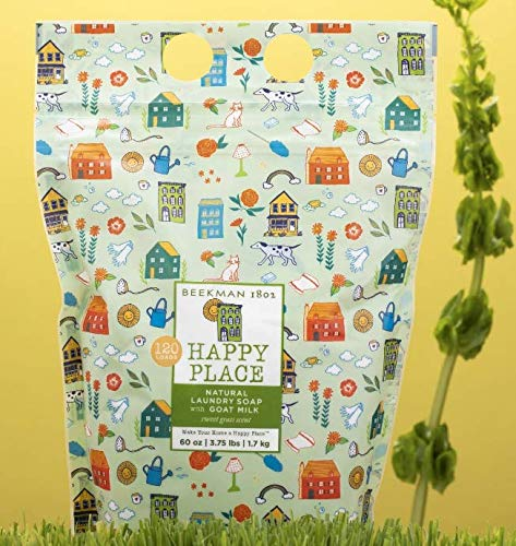 Beekman 1802 Happy Place 120-Load Goat Milk Natural Laundry Soap - Sweet ()