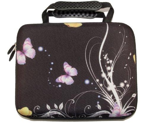 """10""""-17.6Pulgadas Diseño Portátil Notebook duro caso bolsa con asa. Varios diseños y tamaños disponible. plantas y mariposas"""