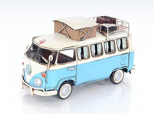 "1950 Type 2 Kombi Camper Bus Metal Car Model 12"" Automotive Decor"
