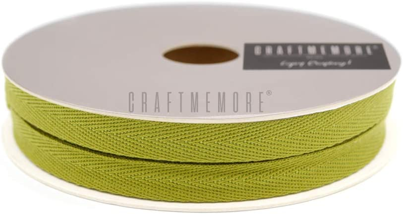 MP36 Mustard Yellow CRAFTMEmore 1//2 Inch Twill Tape Fabric Ribbons Webbing Herringbone Twill Bias Binding Tape for Clothes Sewing Craft Trim Lace 36 Yards