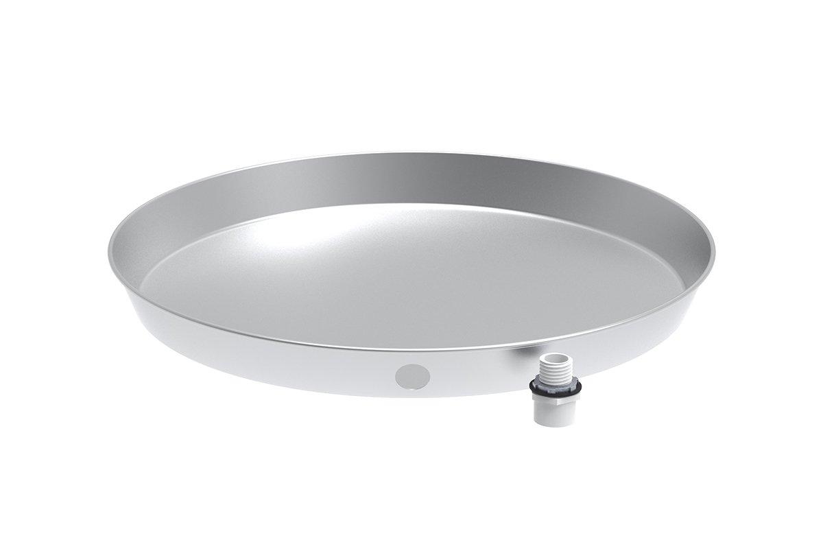 24'' Aluminum Water Heater Drain Pan with PVC Fitting