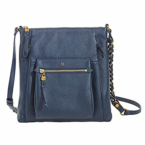 Elliott Lucca Gwen Crossbody Handbag, Blue - Elliott Lucca Leather Shoulder Bag