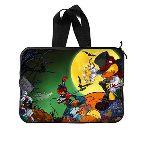 JIUDUIDODO Custom Cool Halloween Evil Jack with Bat Neoprene Laptop Sleeve 10