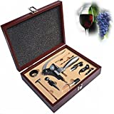 Wine Gift Set 9 Piece Wine Accessories Set- Includes Wine Aerator, Rabbit Lever Corkscrew, Elegant Black Gift Box, Wine Accessories Wedding Gift Anniversary Gifts