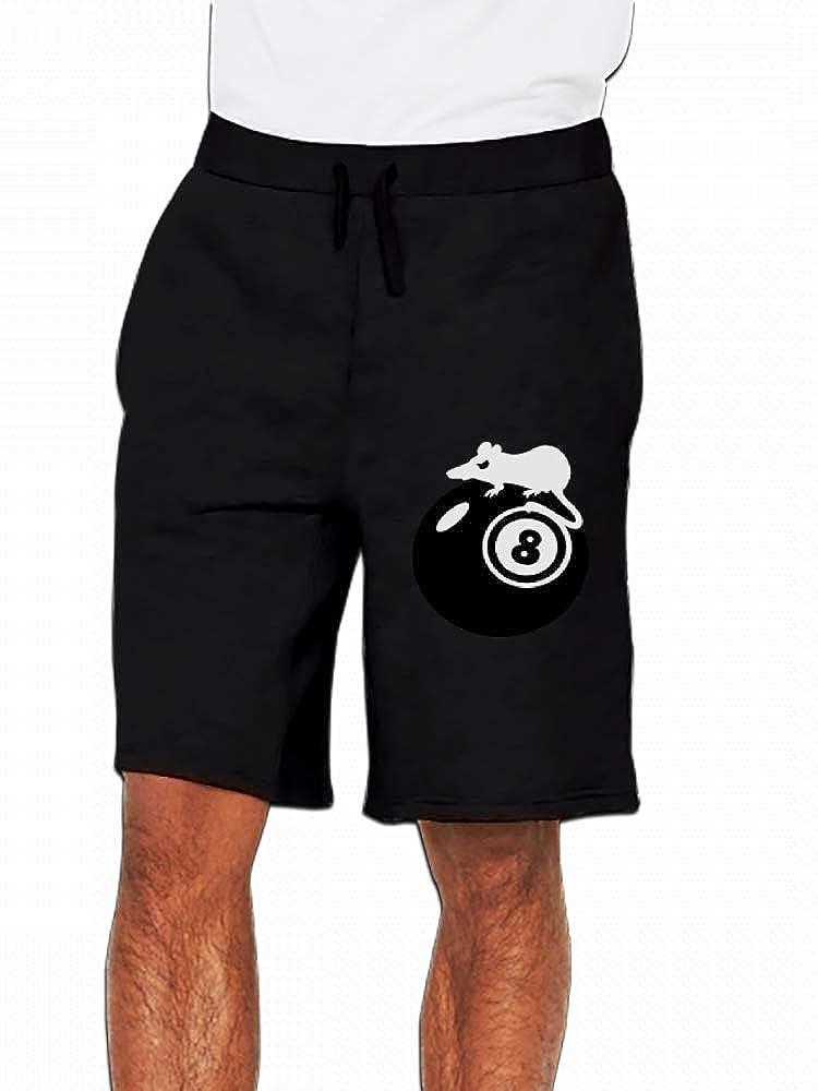 JiJingHeWang Rat Henry Eightball Mens Casual Shorts Pants