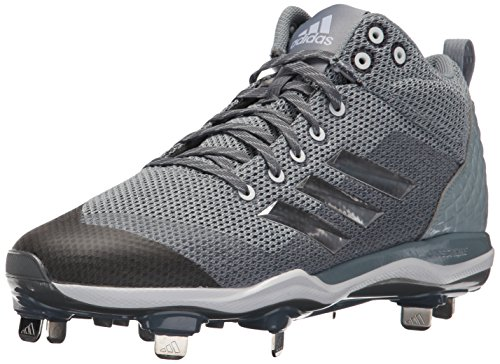 adidas Men's Freak X Carbon Mid Baseball Shoe, Onix, Silver Met, Light Grey, 10.5 M US