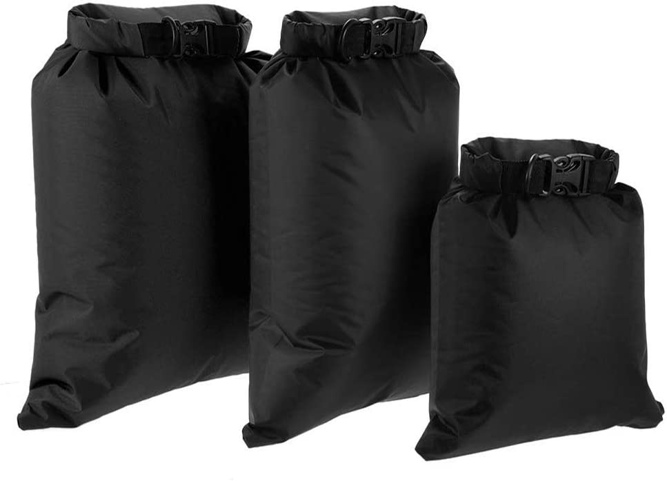 Lixada Waterproof Dry Bags, 3/5/6 Pack Ultimate Dry Sack - 3L+5L+8L Lightweight, Roll Top Outdoor Dry Sacks for Kayaking Camping Hiking Traveling Boating Water Sports