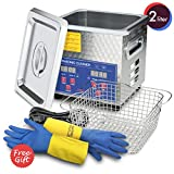 Ultrasonic Cleaner 200W Heated Parts Cleaner 2L for Small Carburetors Injectors Guns Bullets Brass and Jewelry Professional Ultrasonic Bath DAREFLOW Gifts for Men 2019 Upgrade