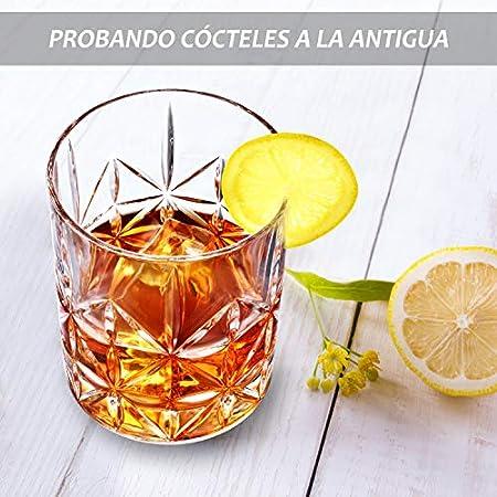 STNTUS INNOVATIONS Vaso de Whisky, Juego de 2 Vasos de Whisky de Cristal de 300ml, Vasos Whisky Sin Plomo para Cóctel, Whisky Escocés, Bourbon, Regalo de Whisky para Hombre, Padre (Classic)