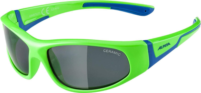 ALPINA Jungen Flexxy Sportbrille neon-Green-Blue One Size 0AM2K|#Alpina 8467471