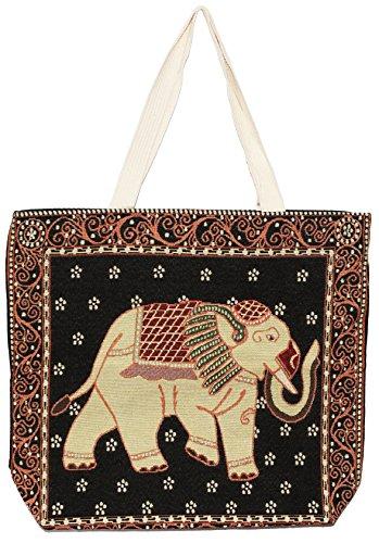 Bohemian Bag Handle Handbag Elephant Top E123 Tote Shoulder Big Hippie Size 7Eddwqa