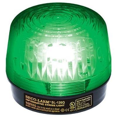 Seco-Larm Enforcer Xenon Strobe Light, 12VDC, Green Lens (SL-126Q/G)