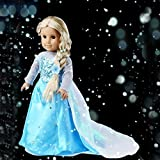 "Ebuddy Sparkle Princess Dress Fits 18"" Girl Doll Clothes"
