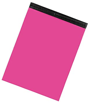 50 HOT PINK and TEAL  9x12 Flat Poly Mailer Envelopes Self Seal USPS Shipping