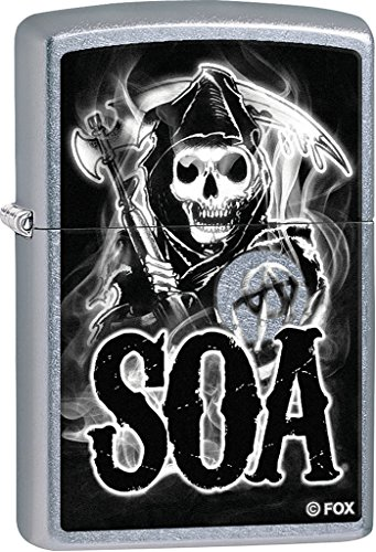 Zippo Personalized Message Engraved on Backside Sons of Anarchy Windproof Lighter (Of Lighter Sons Torch Anarchy)