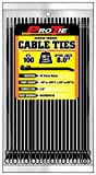 Pro Tie B8SDSM100 8-Inch Screw Mount Standard Duty Cable Tie, UV Black Nylon, 100-Pack