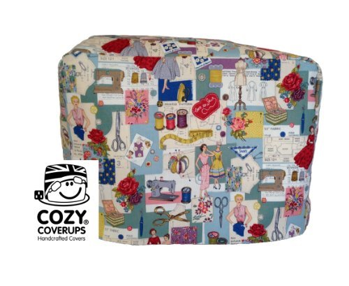 Handmade Sewing Machine CozyCoverUp Dust Cover in 50's Sewing Images