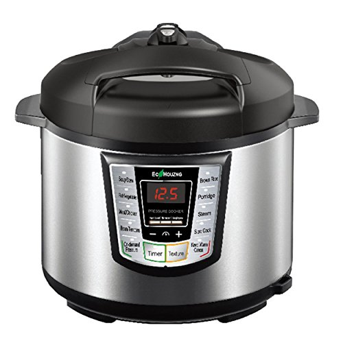 Homevision Technology ECP5013 Electric Pressure Cooker, Silver