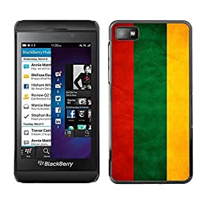 Shell-Star ( National Flag Series-Lithuania ) Snap On Hard Protective Case For BackBerry Z10