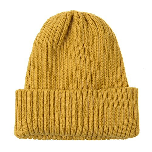 WITHMOONS Knitted Ribbed Beanie Hat Basic Plain Solid Watch Cap AC5846 (Lightweight Ribbed Beanie)