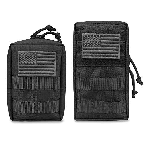 (AMYIPO MOLLE Pouch Multi-Purpose Compact Tactical Waist Bags Small Utility Pouch (Black (6