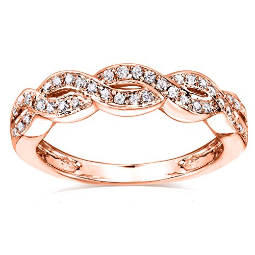 Diamond Braided Band 1/8 Carat (ctw) in 14k Rose Gold