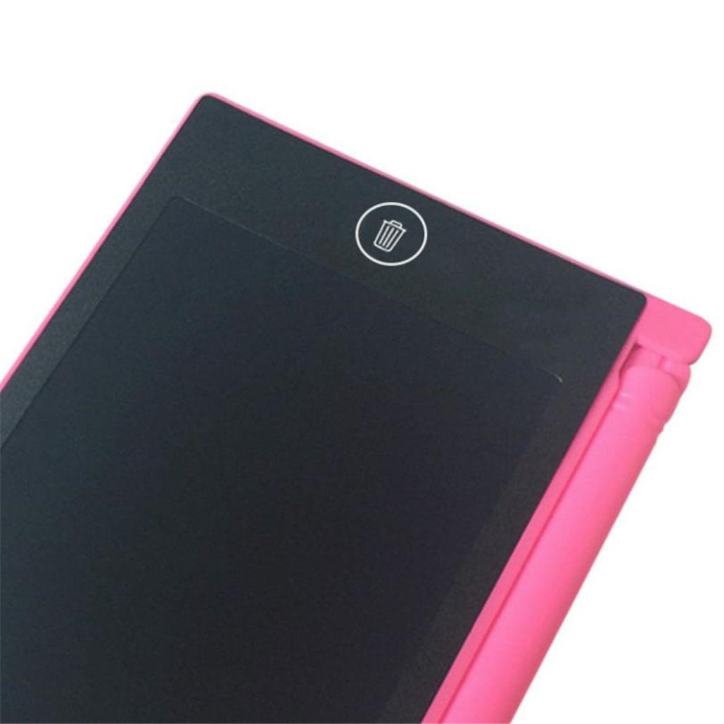 4.4 Inches LCD Screen Writing Tablet Pink Lotus.flower Easy Erase Paperless Memo Pad Portable Writing Drawing Graphics Board