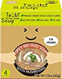 Spicy Red Miso Soup with Japanese Mushrooms, Freeze Dried Instant Soup Cubes, VEGAN NON-GMO GLUTEN FREE, 6 oz Servings (Pack of 4)