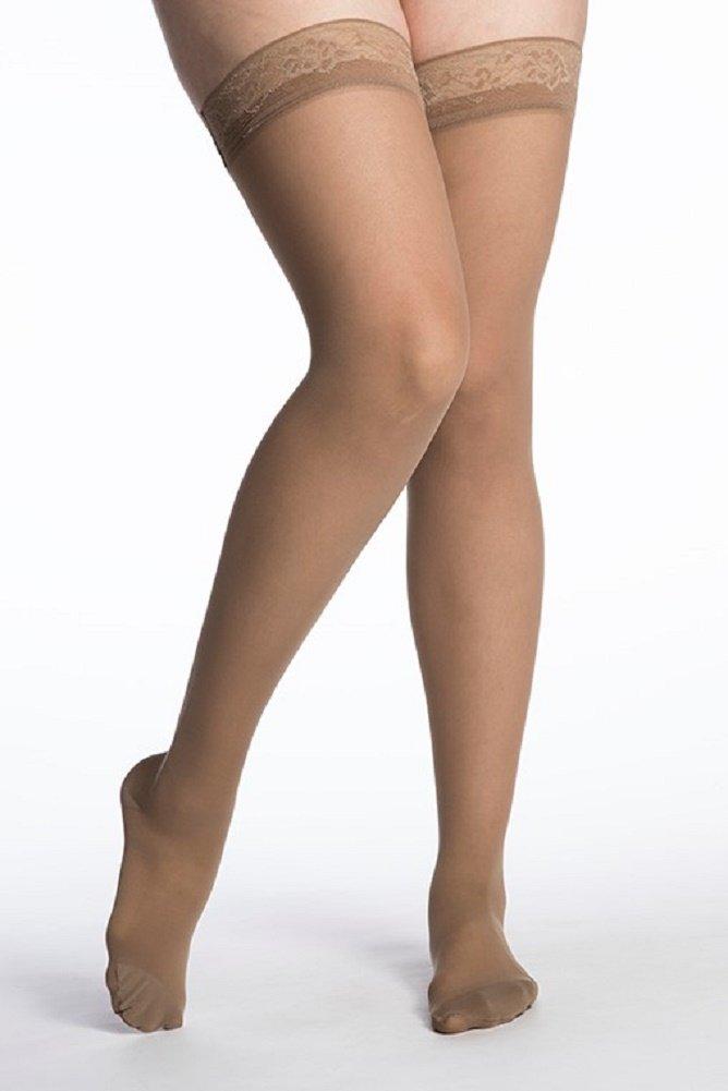 SIGVARIS Women's EVERSHEER 780 Closed Toe Thigh High w/Grip-Top 20-30mmHg