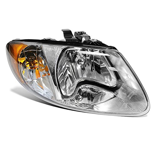(Partsam Passenger Side Right RH Hand Halogen Headlight Head Lamp Assembly 4857700AC CH2503129 114-00655R Chrome Housing for 2001-2007 Dodge Caravan Chrysler Town & Country 2001-2003 Voyager)