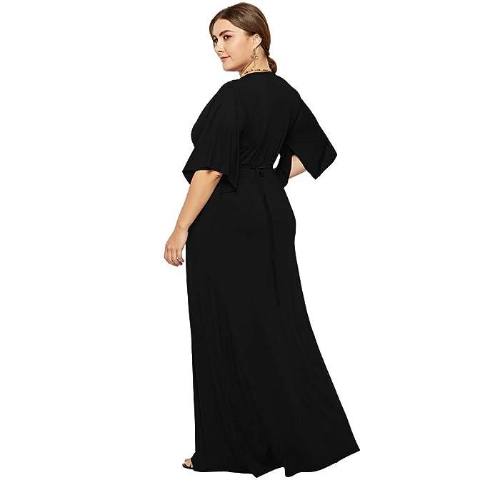 Amazon.com: Women\'s Plus Size Evening Dress V-Neck Casual ...