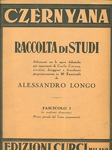 raccolta di studi czernyana fascicolo I 60 studietti elementari