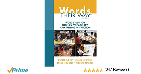 Amazon.com: Words Their Way: Word Study for Phonics, Vocabulary ...
