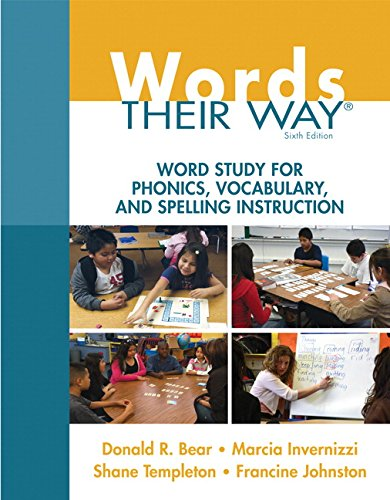 Bear: Words Their Way_6 (6th Edition) (Words Their Way Series)
