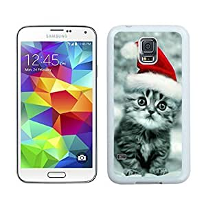 2014 Newest Christmas Cat White Samsung Galaxy S5 Case 32 hjbrhga1544
