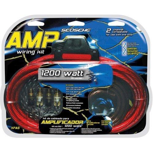 amazon com scosche kpa6d 1200w wiring kit car electronics rh amazon com scosche amp wiring kit 680 watt scosche amp wiring kit 1600 watt