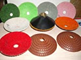 4'' Diamond Convex Polishing 8 Pad & Convex Backer For Concave Sinks or Ogee Edge