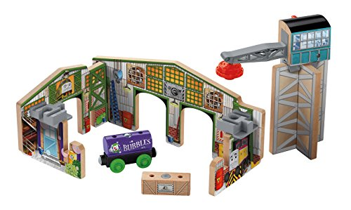 Fisher-Price Thomas & Friends Wooden Railway, Creative Junction Slot & Build (Thomas And Friends Wooden Railway Cranky The Crane)