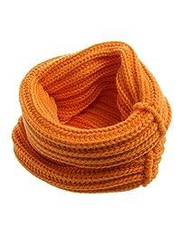 Kimnny Baby Scarf, Children Baby Girl Autumn Winter Knitted Warmer Scarf Neck Scarves Bibs Wrap Orange