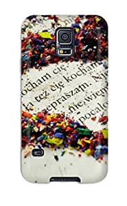Anti-scratch Case Cover Protective Colorful Rubber Pieces Heart Case For Galaxy S5