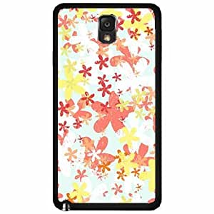 Brush Flowers Plastic Phone Case Back Cover Samsung Galaxy Note III 3 N9002