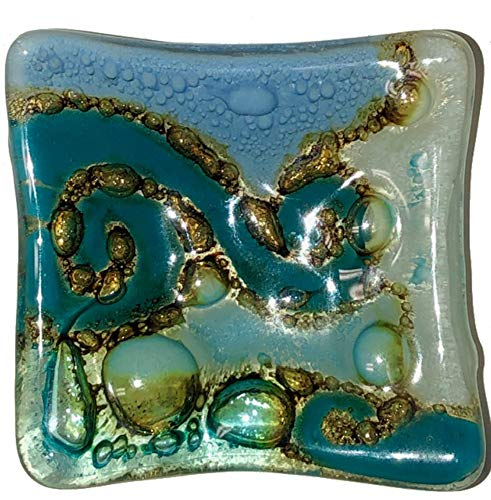 Design Light Blue Fused Glass - Recycled Fused Glass Plates 2