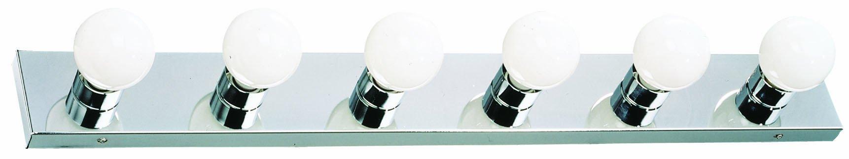 Design House 500942 6 Light Vanity Light, Polished Chrome