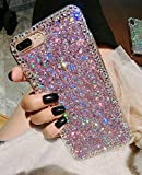 iPhone XR Case,for iPhone XR Glitter Sparkle Bling Case for Girls Women,Rhinestone Bumper Protective Cover for Apple…