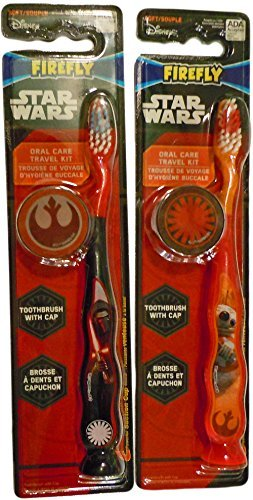 Price comparison product image Star Wars Firefly Soft Toothbrush With Cap- Kylo Ren & BB-8
