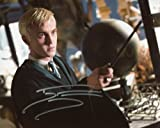 Tom Felton Signed / Autographed Harry Potter 8x10 Glossy Photo Portraying Draco Malfoy from The Half Blood Prince. Includes Fanexpo Fanexpo Certificate of Authenticity and Proof. Entertainment Autograph Original.