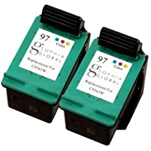 Sophia Global Remanufactured Ink Cartridge Replacement for HP 97 (2 Color)