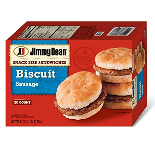 Jimmy Dean, Snack Sized Sandwiches Biscuit Sausage, 20 ct (Frozen) ()