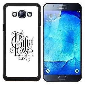Dragon Case - FOR Samsung Galaxy A8 A8000 - faith god love faith white black text - Caja protectora de pl??stico duro de la cubierta Dise?¡Ào Slim Fit